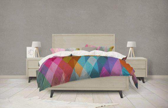 Prism Geometric Pattern Bedding