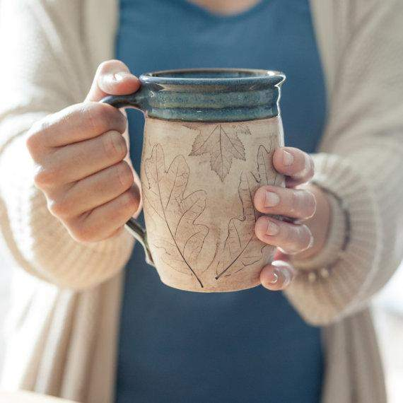 Natural Materials Ceramic  16 oz Coffee Mug