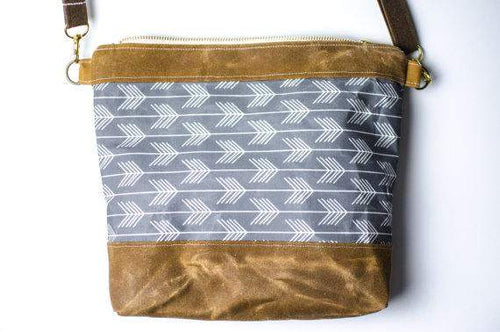 Ray Waxed canvas Crossbody Bag