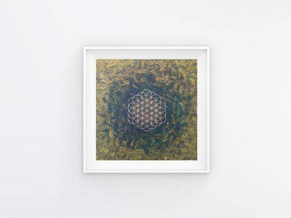 Green Universe: Connect with Nature - Fine Art Print Sacred Geometry