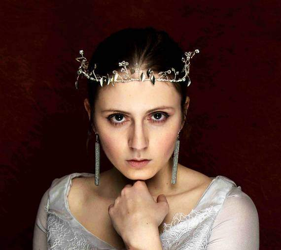 Snow Queen Jeweled Bridal Crown
