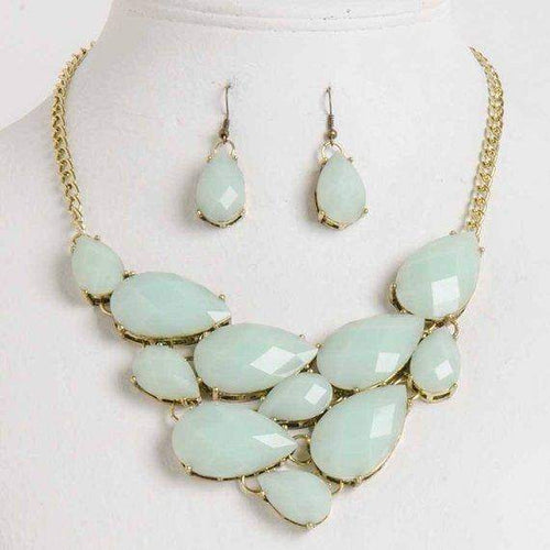 Mint Green Necklace Set