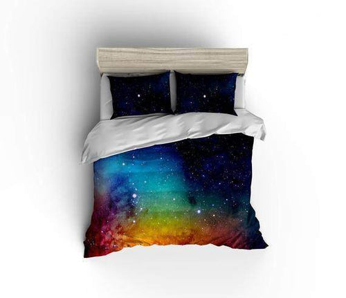 Rainbow Galaxy Bedding