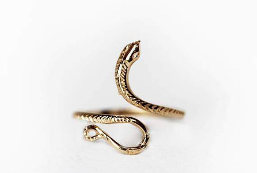 Adjustable Gold Snake Ring
