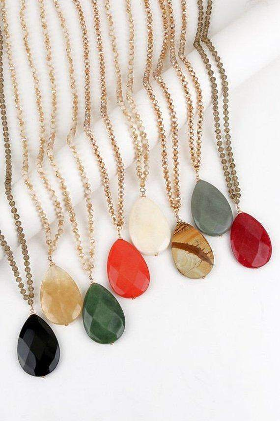 Agate Stone Necklace