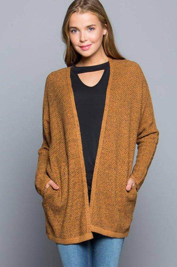Marled Knit Sweater Cardigan