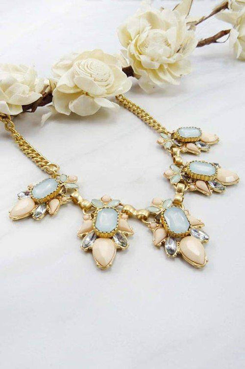 Multi Floral Statement Necklace