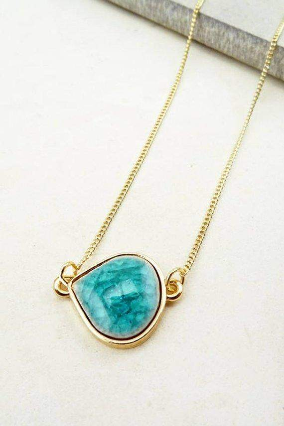 Turquoise Stone Necklace - Maven Flair