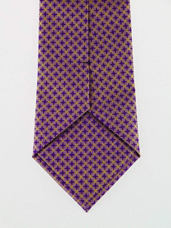 Purple and Gold Metallic Neck Tie