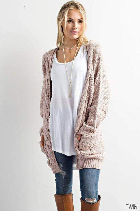 Wool Open Cardigan