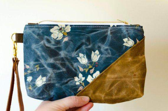 Woodland Floral Waxed Canvas Bag