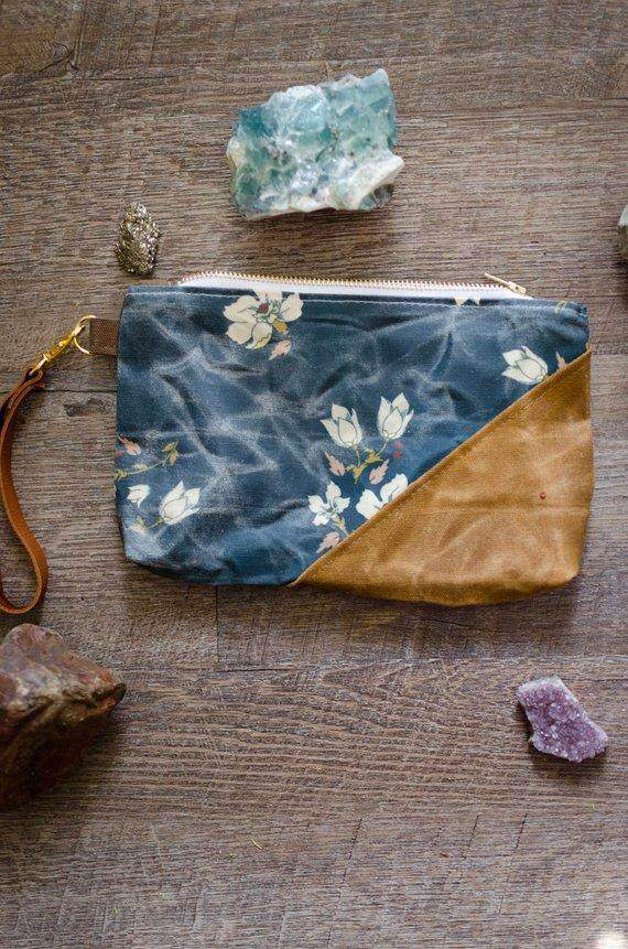 Woodland Floral Waxed Canvas Bag - Maven Flair