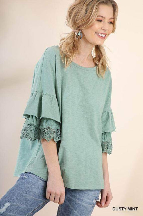Layered Crochet Top