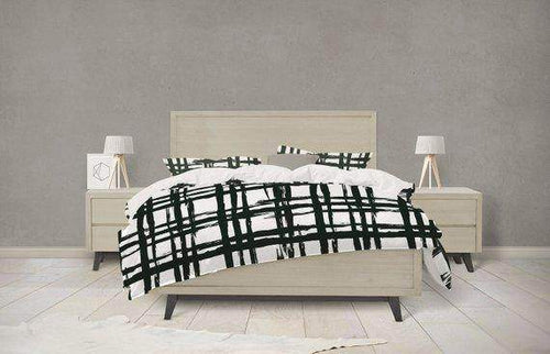 Inked Grid Pattern Bedding