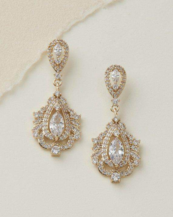 Silver Bridal Earring - Maven Flair