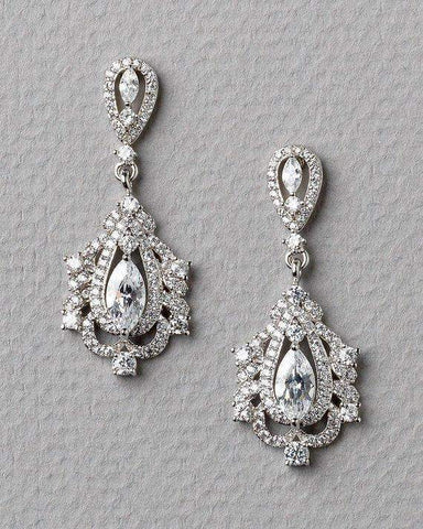 Margaret Pearl CZ Earrings
