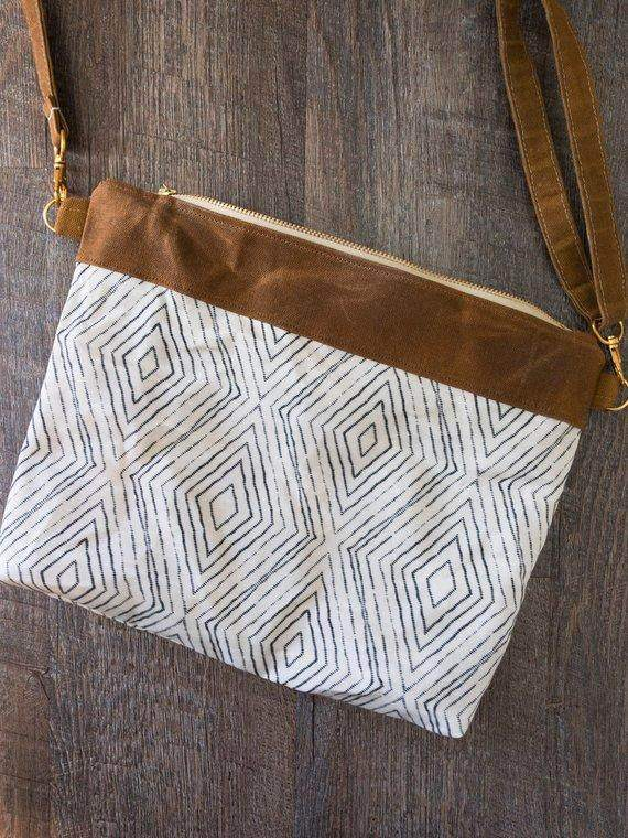 Waxed Canvas Wristlet Bag