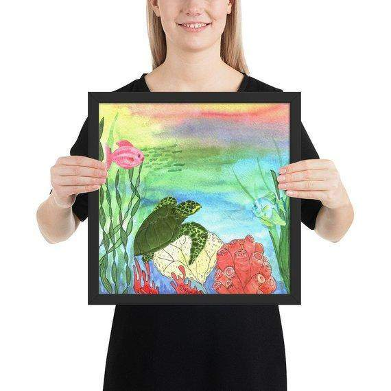 Sea Turtle Shores Framed Art Print