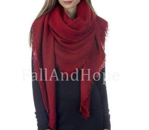 Red Winter Blanket Scarf