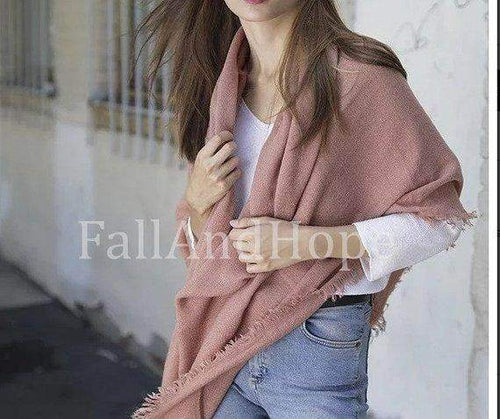 Pink Winter Blanket Scarf