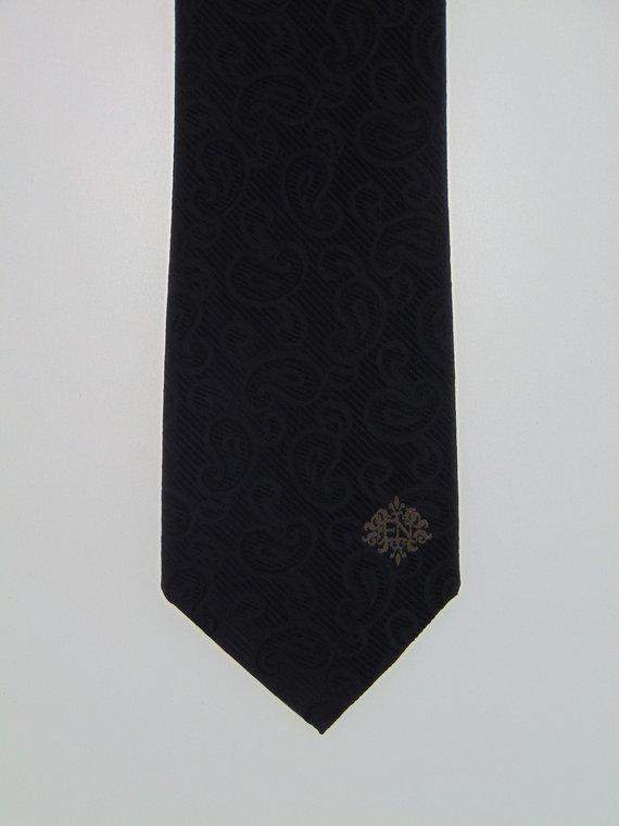 Silk Black on Black Paisley Necktie