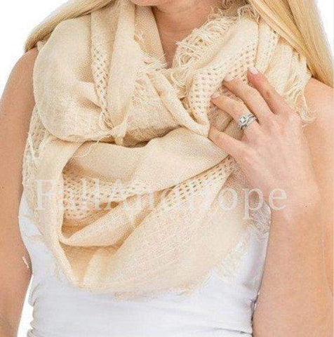 White Black Blanket Scarf
