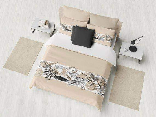 Tan and Black Tropical Comforter