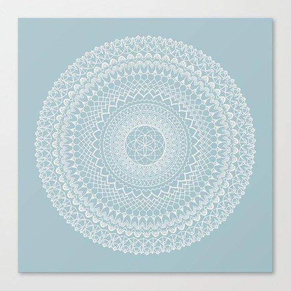 Light Blue Mandala Blanket