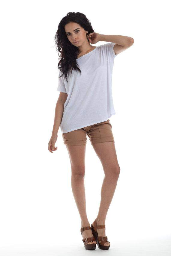 Womens Oversize White Basic Tee