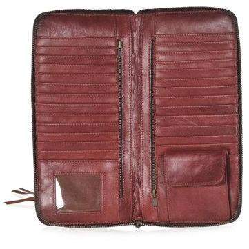 MAYA. Cognac leather purse bag
