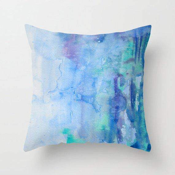 Blue Watercolor Duvet  Comforter