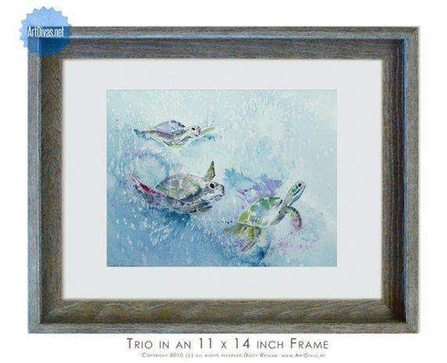 "Seaturtle Print titled ""Trio"" by Dotty Reiman"