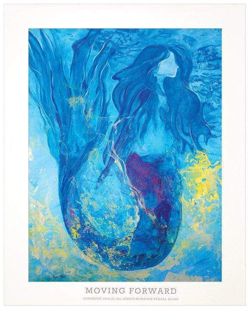 "Mermaid Art Print Named ""Moving Forward"""