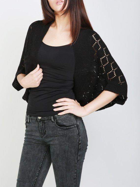 Knit Black Shrug Cardigan Sweater