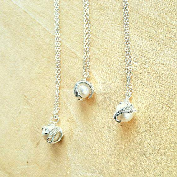 Crystal Charmi Pearl Wire Wrapped Pendant Necklace
