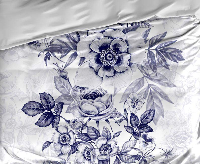 Blue Vintage Floral Bedding