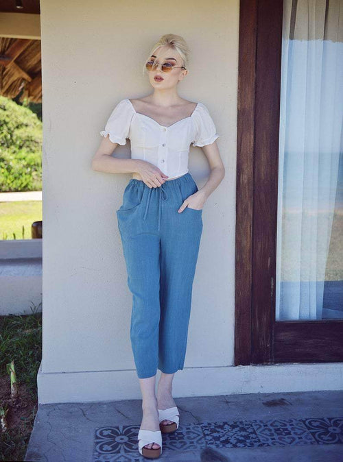 Relaxed Fit Linen Pants - Maven Flair