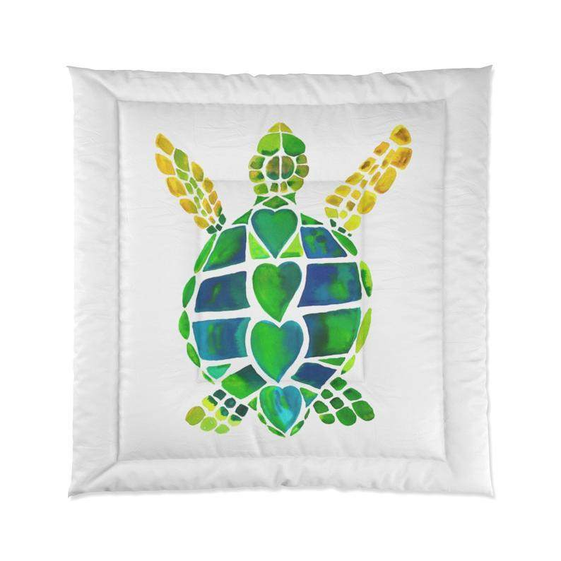Sea Turtle Love Comforter - Maven Flair