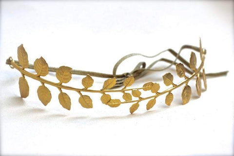 Drop Lariat Leaf Necklace