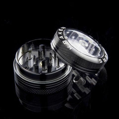 "Kraken 1.5"" 2-part Grinder with Clear Top and Push-up Bottom"