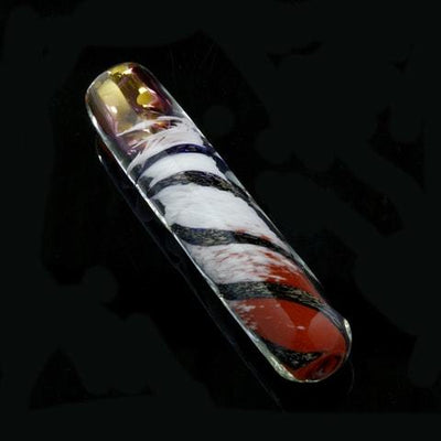 Spiraled Out Multi-Colored Chillum w/ Dichro Spiral