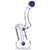 "UPC 7.5"" Sherlock Style Bubbler with Platinum Decals"