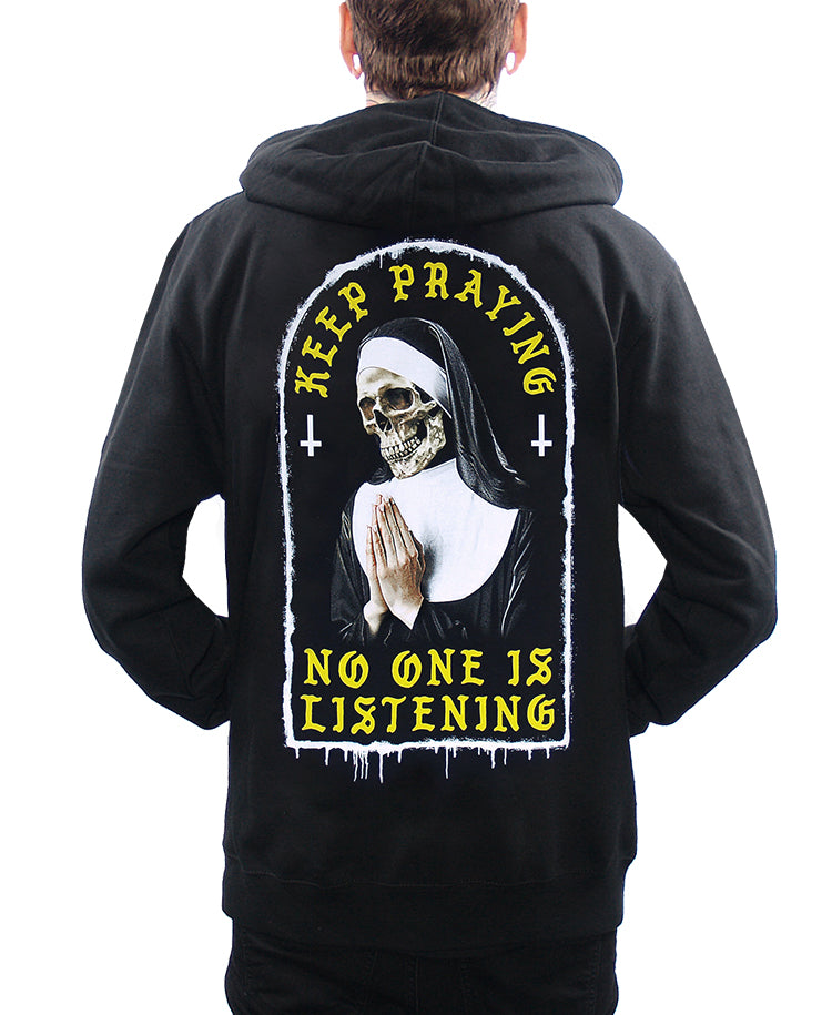 KEEP PRAYING ZIP-UP HOODIE