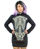 TATTOO RIBCAGE HOODIE DRESS