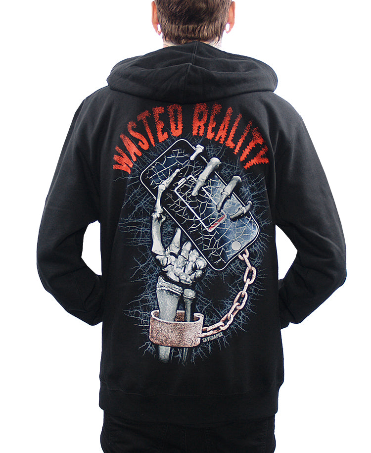 WASTED REALITY ZIP-UP HOODIE