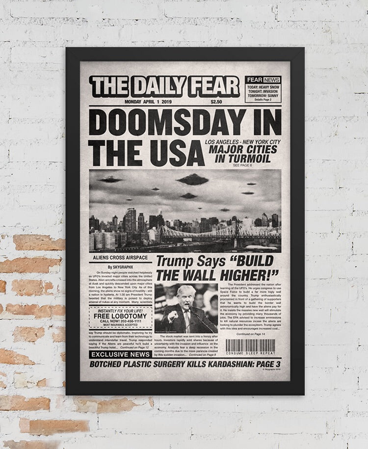 Doomsday In The USA Framed Poster Print