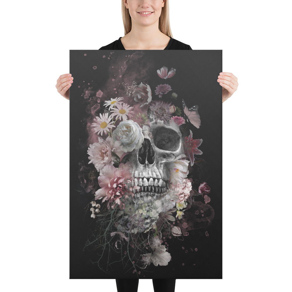 Death Blooms Canvas