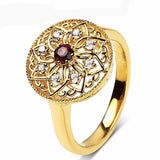 Luxury 14K  Yellow Gold  Lab Grown Diamond Moissanite  Anniversary Ring Gifts