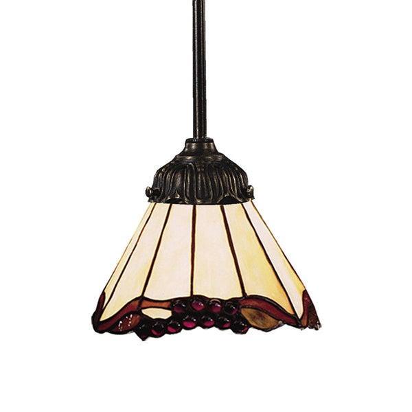 Mix-N-Match 1 Light Pendant In Tiffany Bronze And Honey Dune Glass