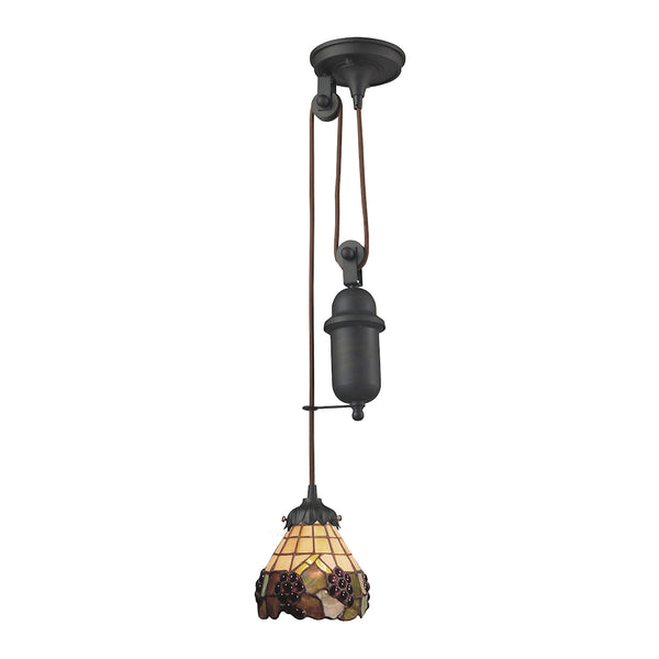 Mix-N-Match 1 Light Pulldown Pendant In Vintage Antique